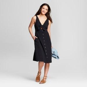 Universal Thread Cutout Linen midi dress